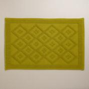 Oasis Green Woven Diamond Bath Mat