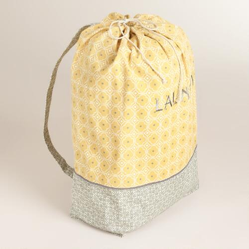 Yellow Geo Laundry Bag