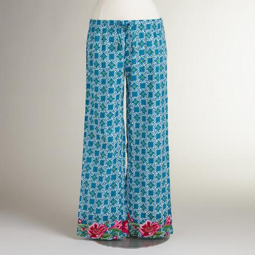 Embroidered Maleah Pajama Pants