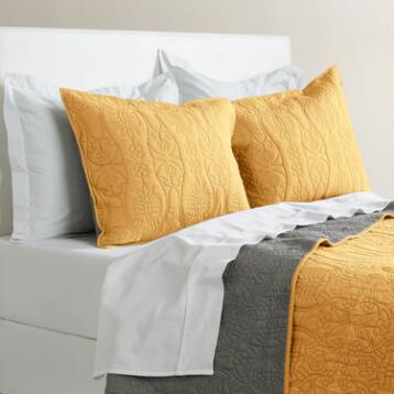 Yellow and Frost Gray Simone Reversible Quilt