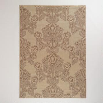 5'x7' Gray Summer Goddess Indoor-Outdoor Rug