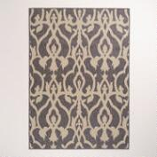 5'x7' Lattice Charcoal Indoor-Outdoor Rug