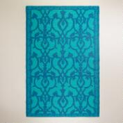 6'x9' Blue Omar Rio Indoor-Outdoor Floor Mat
