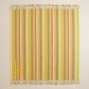 Yellow Stripe Picnic Blanket