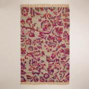 5'x8' Recycled Silk Flatwoven Rug