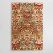 Floral Medallion Tufted Wool Area Rug