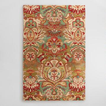 Floral Medallion Tufted Wool Rug