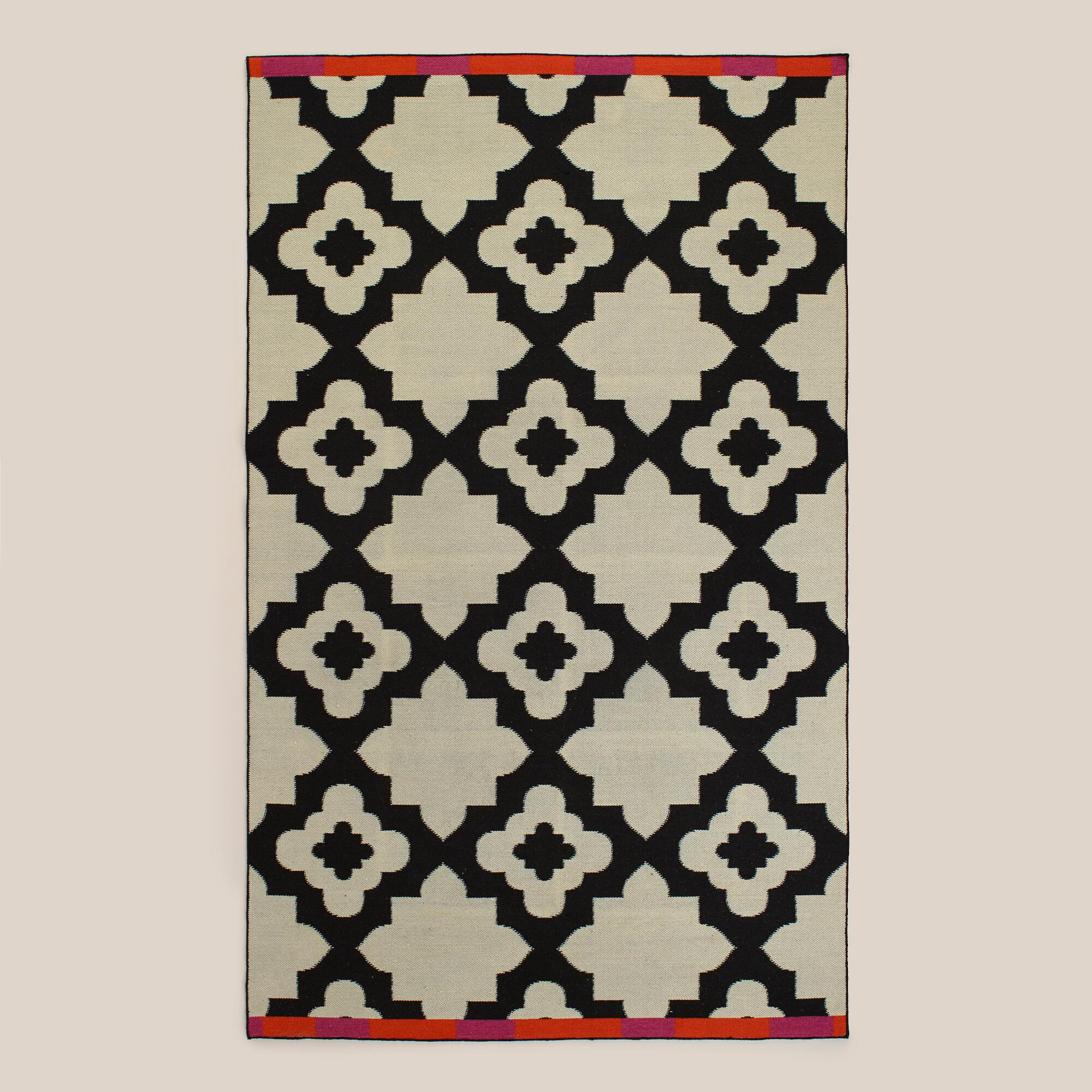 Pink-Orange Bordered Flat-Woven Indoor-Outdoor Rugs ... - photo#40