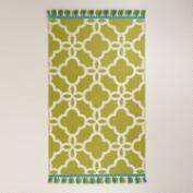 Lattice Indoor-Outdoor Rugs with Tassels