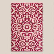 Fuchsia Floral Indoor-Outdoor Rug