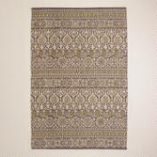 4'x6' Gray Floral Print Indoor-Outdoor Rug