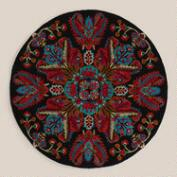 5' Round Medallion Tufted Rug