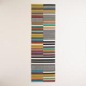 2.5'x8' Multicolor Stripe Cotton Floor Runner
