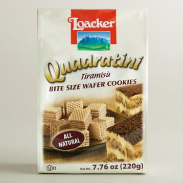 Loacker Quadratini Tiramisu Wafer Cookies