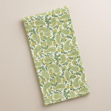Green Paisley Kitchen Towel