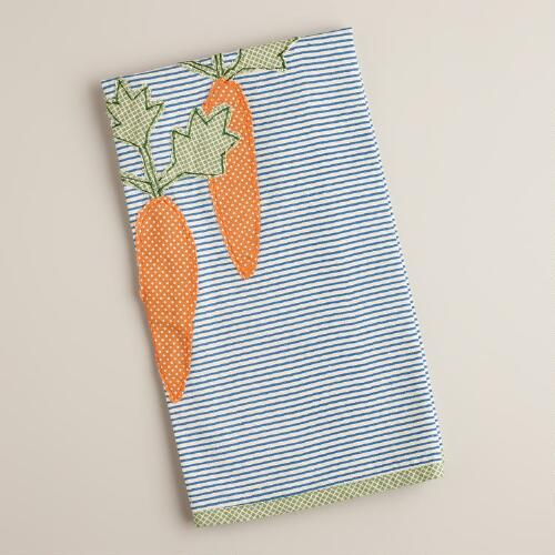 Stripe Carrot Kitchen Towel