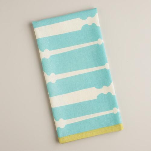 Aqua Utensil Kitchen Towel