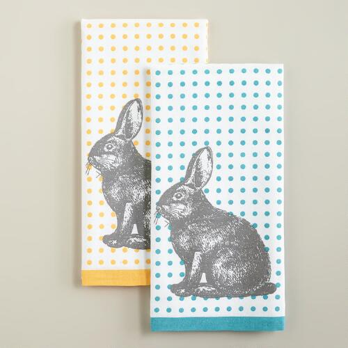 Bunny Kitchen Towels, Set of 2