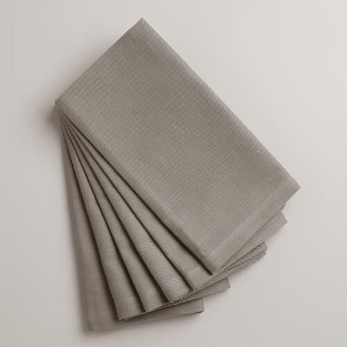 Frost Gray Buffet Napkins, Set of 6