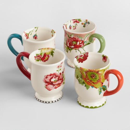 Nomad Flower Mugs, Set of 4