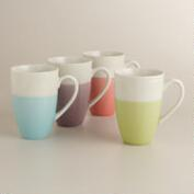 Dipped Two-Tone Mugs, Set of 4