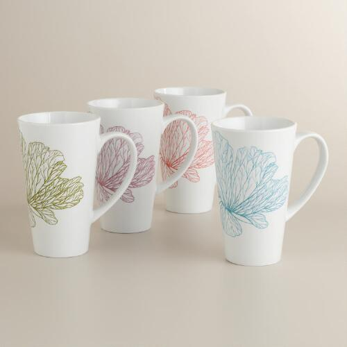 Structural Flower Mugs, Set of 4