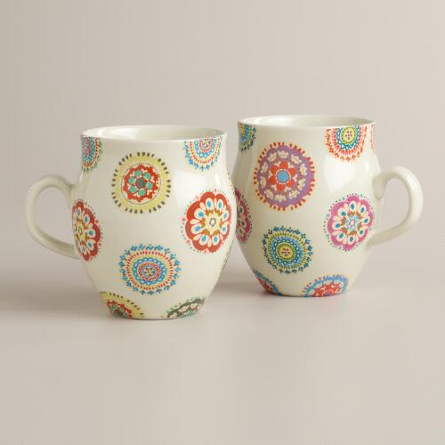 Bella Balloon Mugs, Set of 2