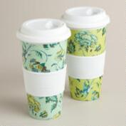 Indochine Floral Non-Paper Cups, Set of 2