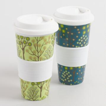 Spring Bliss Trees Non-Paper Cups, Set of 2