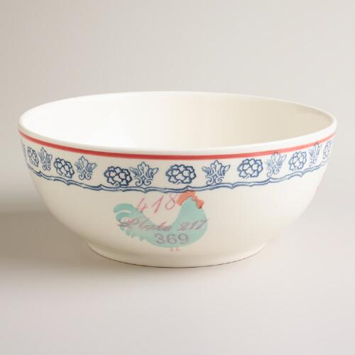 "11"" Rooster Serving Bowl"