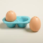Egg Salt and Pepper Shakers in Crate, Set of 2