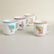 Bunny Mugs, Set of 4