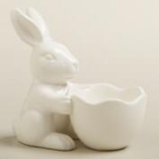 White Bunny Single Egg Cup