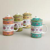 Shanghai Infuser Mugs, Set of 4