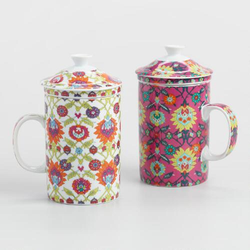 Isnik Infuser Mugs, Set of 2