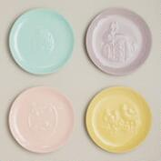 Pastel Easter Plates, Set of 4