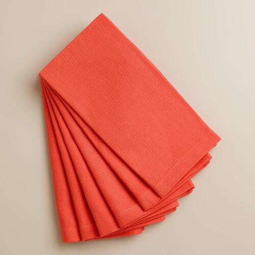 Coral Buffet Napkins, Set of 6