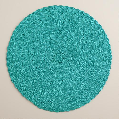 Fanfare Round Braided Placemats, Set of 4