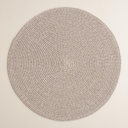 Gray Round Braided Placemats, Set of 4