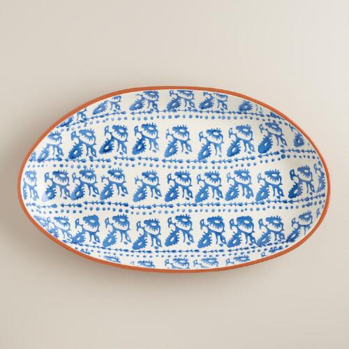 Woodblock Oval Platter