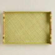 Green Chevron Pandan Tray