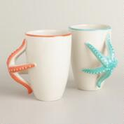 Starfish Mugs, Set of 2