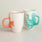 Octopus Mugs, Set of 2