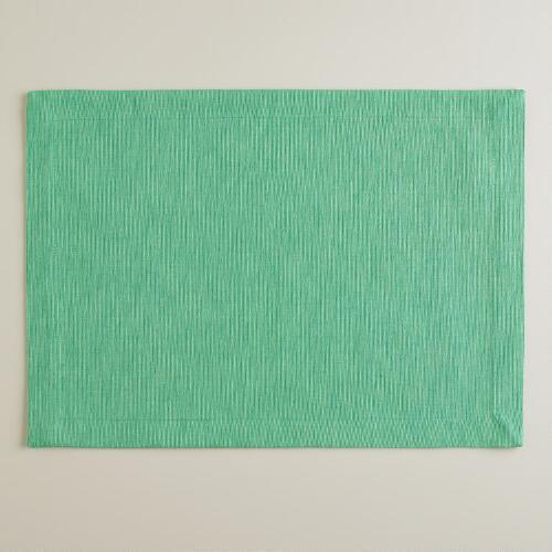 Dusty Aqua Khadi Placemats, Set of 4