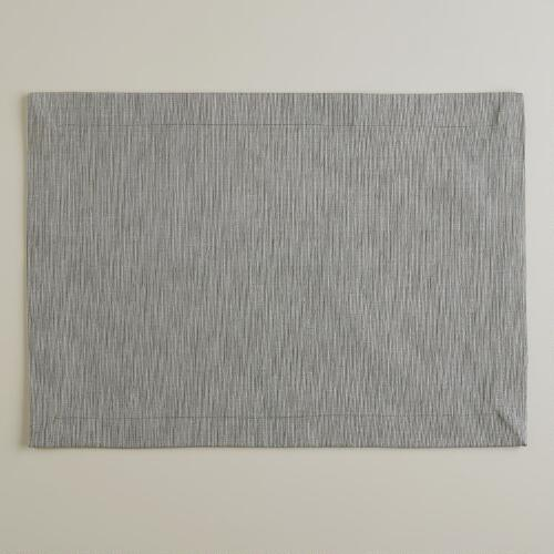 Gray Khadi Placemats, Set of 4