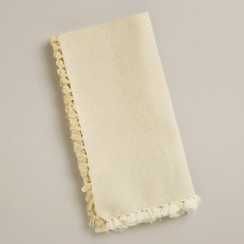 Ivory Herringbone Napkin, Set of 4