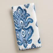 Blue Medallion Ikat Napkins, Set of 4