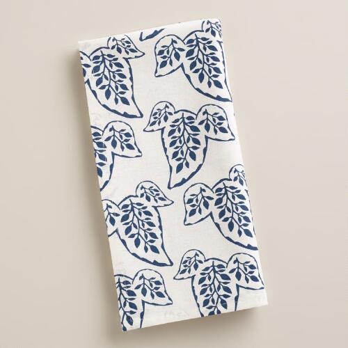 Indigo Block Print Napkins, Set of 4