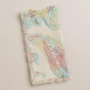 Multicolor Paisley Chambray Napkins, Set of 4