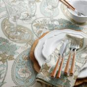 Blue Floral Paisley Table Linen Collection